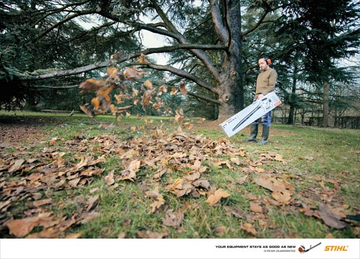 Stihl 3 Year Guarantee print advertisement Blower
