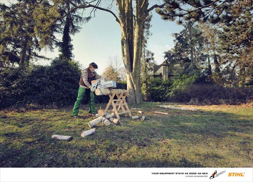 Stihl 3 Year Guarantee print advertisement Chainsaw