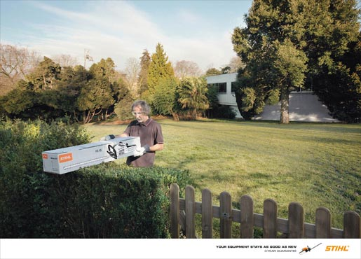 Stihl 3 Year Guarantee print advertisement Hedge Trimmer