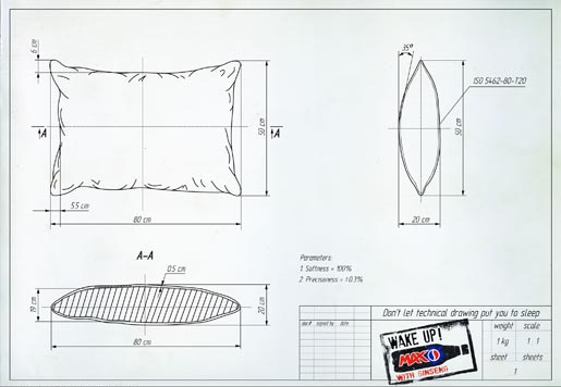 Pepsi Max Technical Drawing Pillow