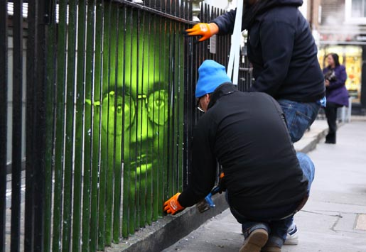Troy Davis Fence in Amnesty International campaign