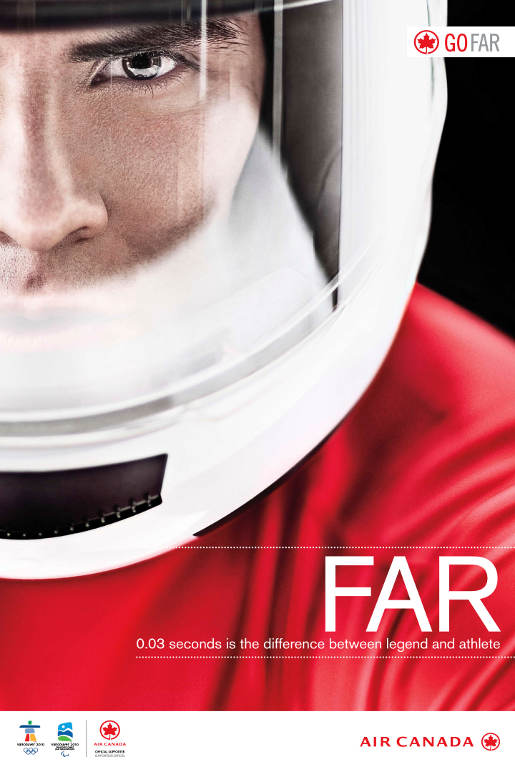 Air Canada Go Far Athlete print advertisement
