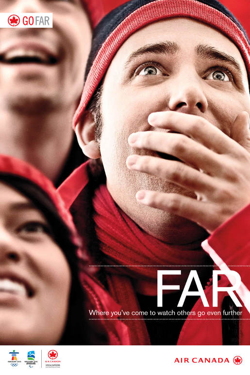 Air Canada Go Far Fans print advertisement