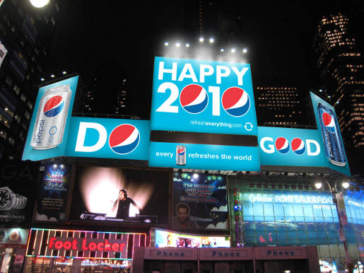 Pepsi Refresh Billboards in Times Square