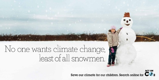 Act on CO2 Winter Snowman ad