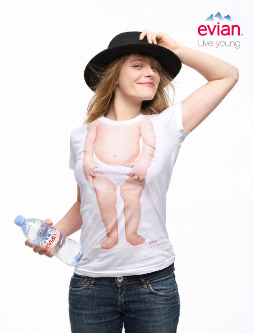 Evian Live Young print advertisement - Baby Inside