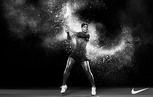 Serena Williams in Nike Rock Victorious print ad