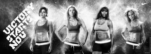 Maria Sharapova in Nike Rock Victorious print ad