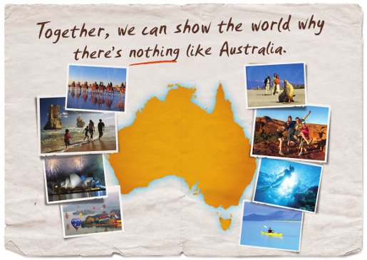 Tourism Australia Nothing Like Australia postcard