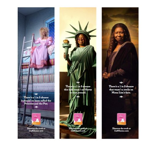 Poise Whoopi advertisements
