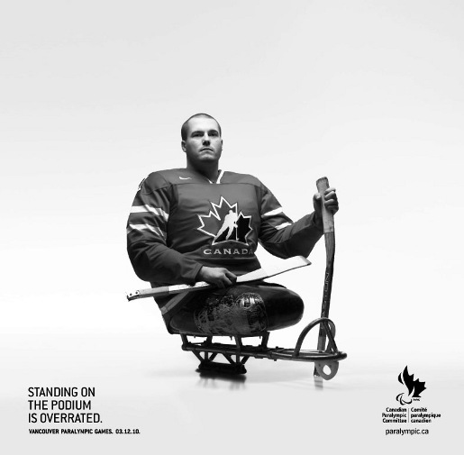 Ray Grassi Sledge Hockey standing on the podium is over rated