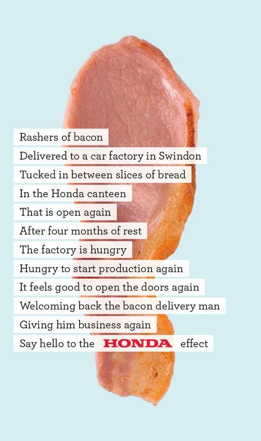 Honda Back to Work Bacon ad