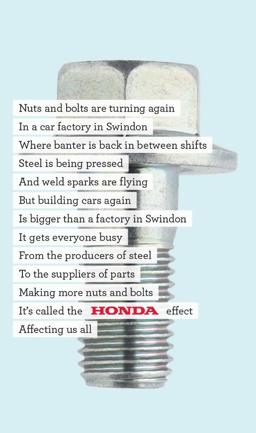 Honda Back to Work Bolt ad