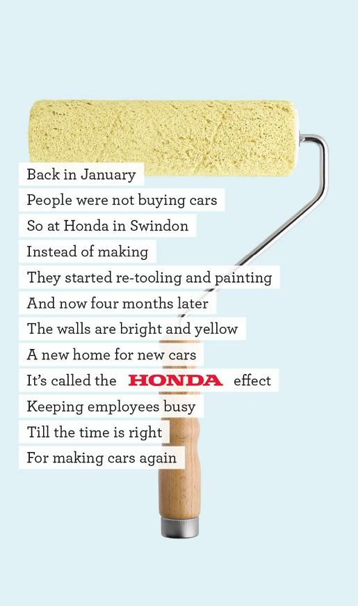Honda Back to Work Roller ad