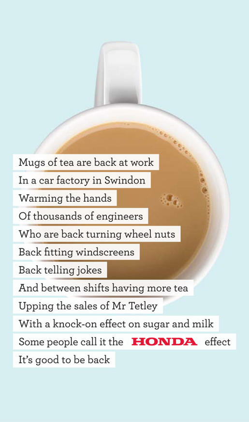 Honda Back to Work Tea ad