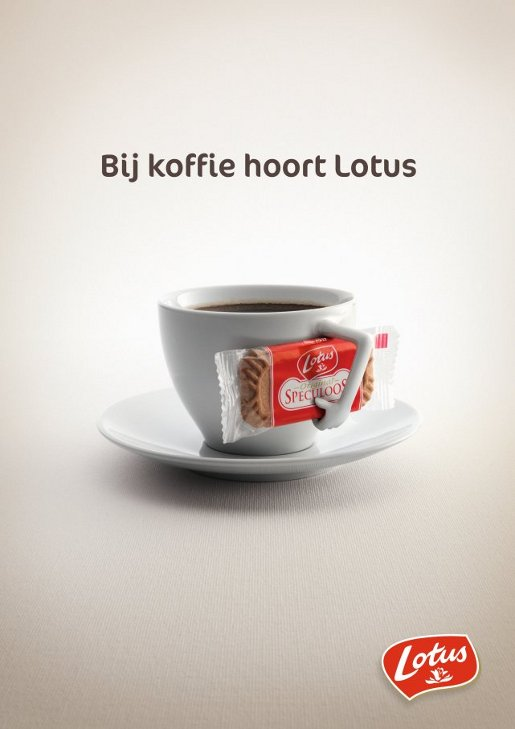 Lotus Coffee Cup commercial