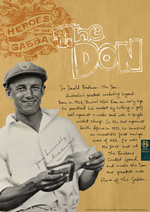 The Gabba Don Bradman