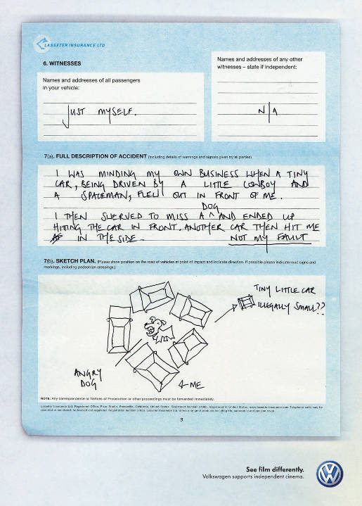 Volkswagen Toy Story Insurance Form