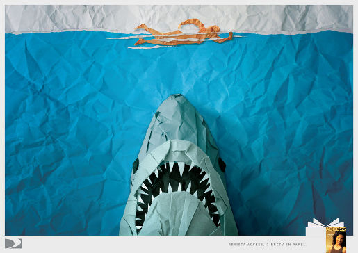 DirecTV Jaws print advertisement