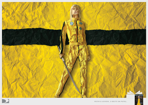 DirecTV Kill Bill print advertisement