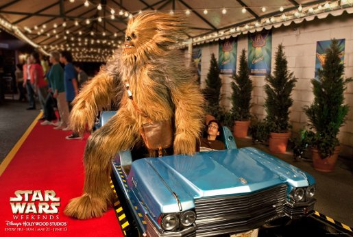 Chewbacca in Disney Star Wars Weekends advertisement