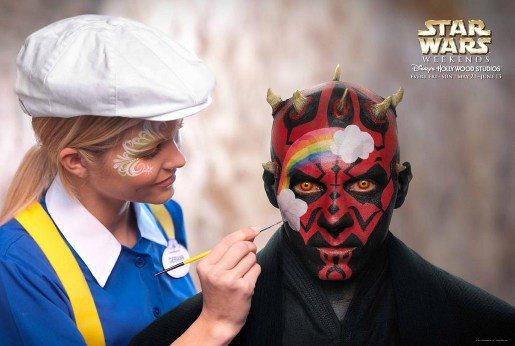 Darth Maul face paint in Disney Star Wars Weekends advertisement