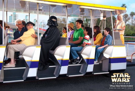 Darth Vadere in Disney Star Wars Weekends advertisement