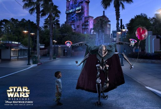 General Grievous in Disney Star Wars Weekends advertisement