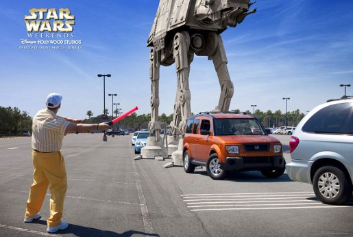 Star Wars Carparkin Disney Star Wars Weekends advertisement