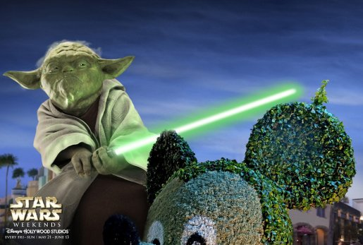 Yoda in Disney Star Wars Weekends advertisement