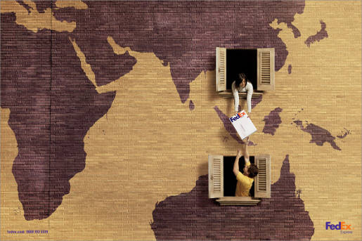 Fedex World print advertisement