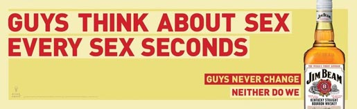 Jim Beam Guys Think About Sex Every Sex Minutes