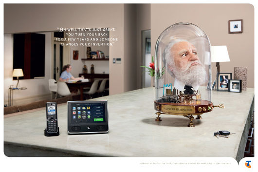 Telstra T-Hub and  Alexander Graham Bell advertisement