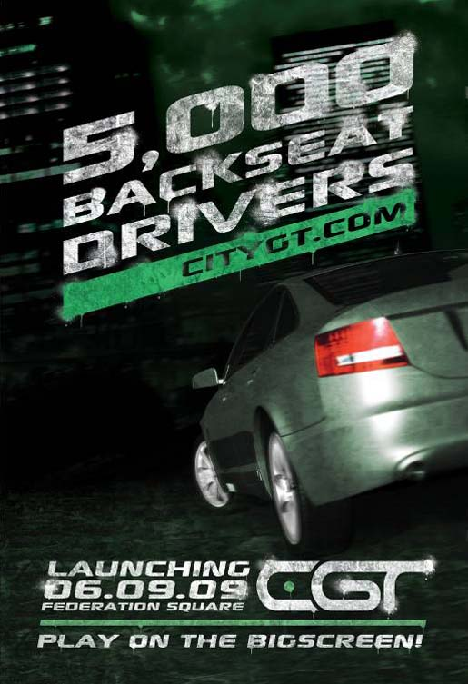 VicRoads CityGT poster 5000 Backseat Drivers