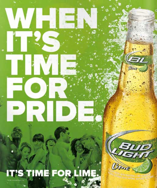 Bud Light Lime Pride ad