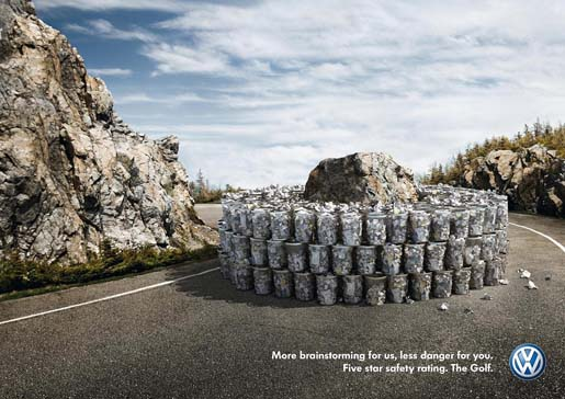 VW Golf Rock print ad
