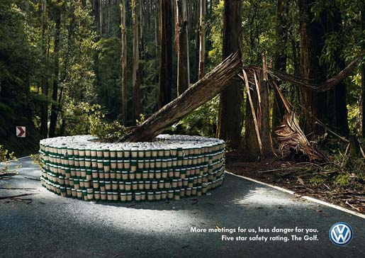 VW Golf Tree print ad