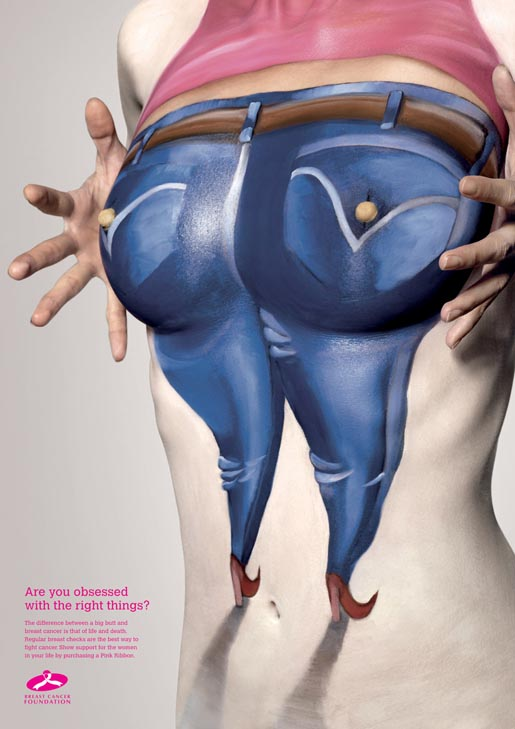 Breast Cancer Body Paint Big Butt
