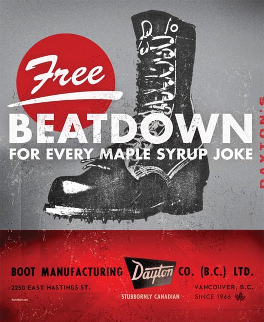Dayton Boots Free Beatdown for every Maple Syrup Joke