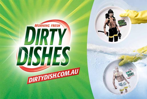 Dirty Dishes Outdoor advertisement