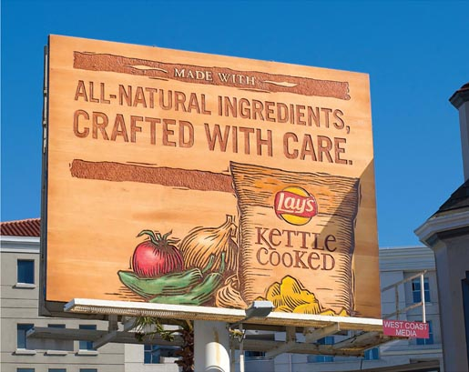 Lays Kettles Carved Billboard