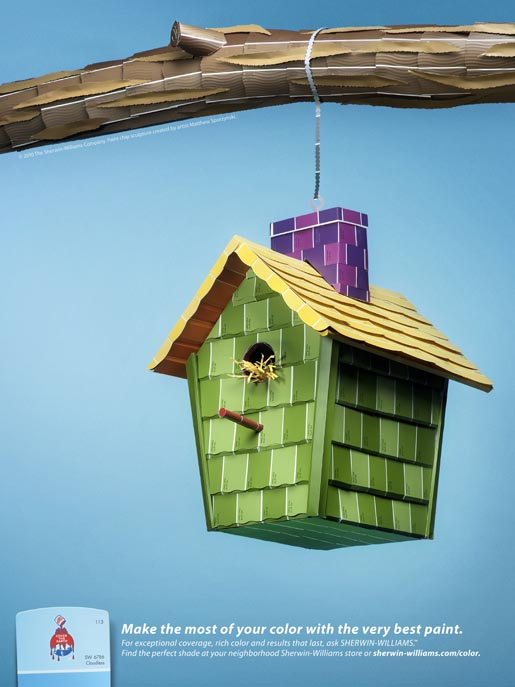 Sherwin Williams Bird house print ad