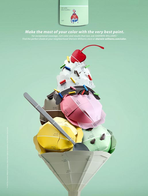 Sherwin Williams Icecream print ad