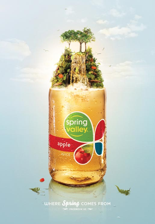 Spring Valley Apple print ad