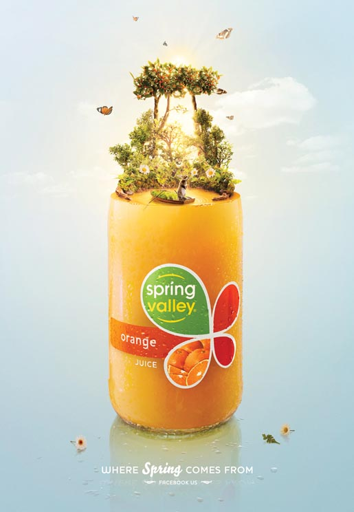 Spring Valley Orange print ad