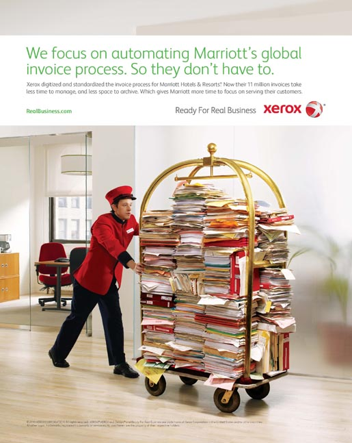 Xerox Marriott Hotels print advertisement