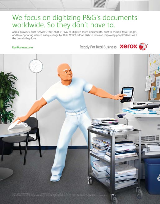Xerox P and G print advertisement