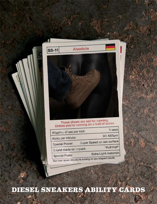 Diesel Kick Ass Ability Cards