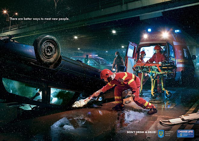 Bucharest Police print advertisement