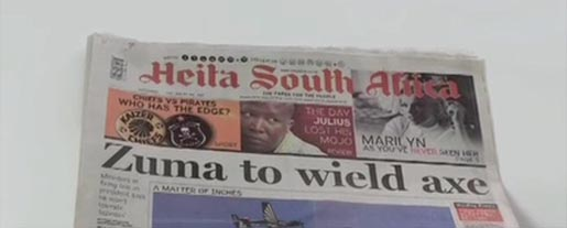 Heita South Africa in The Sunday Times